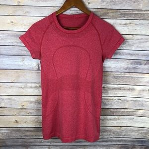 Lululemon | Swiftly Tech S/S Heathered Red Size 6